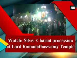 News video: Watch: Silver Chariot procession at Lord Ramanathaswamy Temple