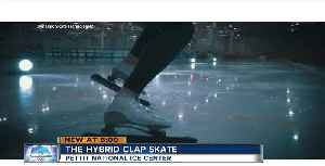 News video: U.S Speed skater creates hybrid clap skate
