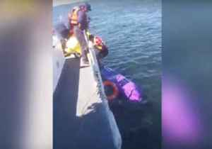 News video: Argentinian Navy Rescues Kayaker Who Was Adrift For Two Days