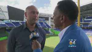 News video: 'We're Going To Put Players On The Field Who Work Hard & Compete': Derek Jeter On Marlins