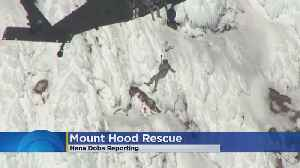 News video: Climber Dies From Massive Fall At Mount Hood, Others Rescued