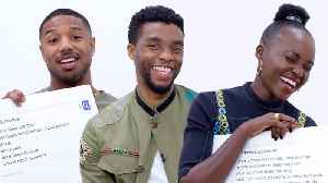 News video: Black Panther Cast Answers the Web's Most Searched Questions