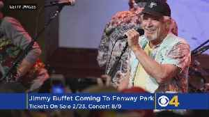 News video: Jimmy Buffett To Play Fenway Park This Summer