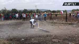 News video: Move Over, Thor! Mexican Town Honors St. John With Explosive Sledgehammers