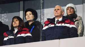 News video: Mike Pence Says He Ignored Kim Jong-Un's Sister At The Winter Olympics