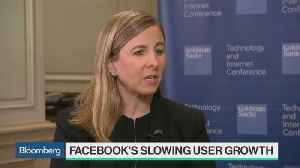 News video: Goldman's Bellini Says Facebook's Slowing User Growth Is Not Surprising