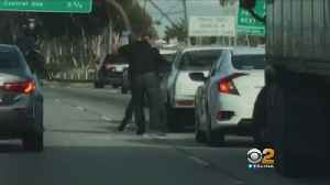 News video: LA Freeway Fist Fight Caught On Camera