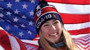 News video: Mikaela Shiffrin Wins First Giant Slalom Gold