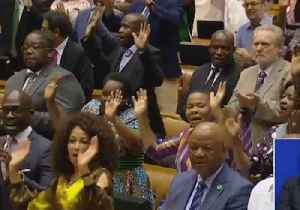 News video: South African Parliament Breaks Into Song Following Election of New President