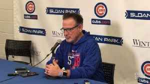 News video: Joe Maddon on Anthony Rizzo leaving spring training for Florida