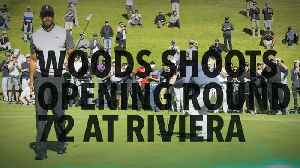 News video: Woods shoots opening round 72 at Riviera