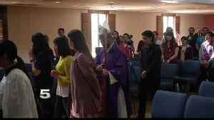 News video: UTRGV Students Gather for Annual Ash Wednesday Mass