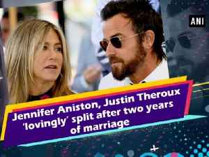 News video: Jennifer Aniston, Justin Theroux 'lovingly' split after two years of marriage