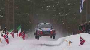 News video: Thierry Neuville leads Rally Sweden