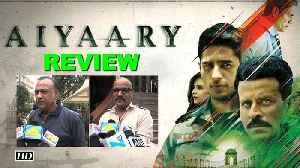 News video: Aiyaary movie REVIEW: Public react with a thumbs down