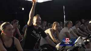 News video: Man spins to raise money to fight rare cancers