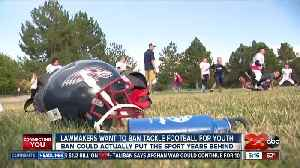 News video: California lawmakers considering banning tackle football for kids
