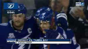 News video: Tampa Bay Lightning beat Detroit Red Wings for 11th straight time, 4-1