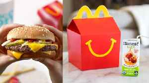 News video: McDonald's Drops Cheeseburgers and Chocolate Milk From Happy Meal Menu