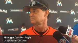 """News video: Don Mattingly on Dan Straily's 2018: """"We're going to need some guys like that to lead our staff"""""""