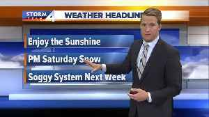 News video: Temperatures stay mild with rain on the way