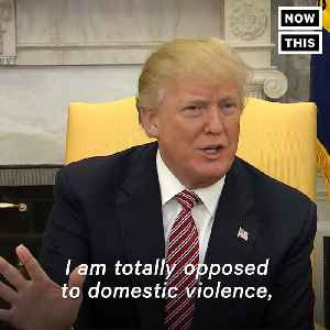 News video: It Took Donald Trump A Week To Publicly Condemn Domestic Violence
