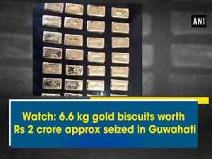 News video: Watch: 6.6 kg gold biscuits worth Rs 2 crore approx seized in Guwahati