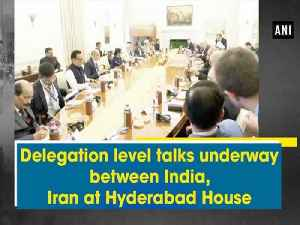 News video: Delegation level talks underway between India, Iran at Hyderabad House