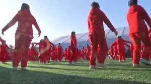 News video: North Korean cheerleaders perform on the sidelines of Winter Olympics