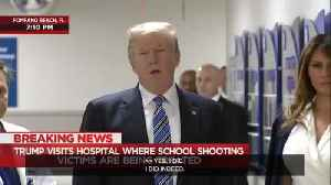News video: President Trump visits Parkland victims in hospital