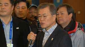 News video: President Moon Jae-in hopes talks with North Korea might include USA later