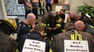 News video: Firefighters Climb Stairs For Good Cause
