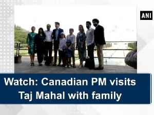 News video: Watch: Canadian PM visits Taj Mahal with family