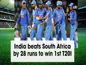 News video: India beats South Africa by 28 runs to win 1st T20I