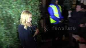 News video: Kylie Minogue arriving and leaving the pre Bafta awards party