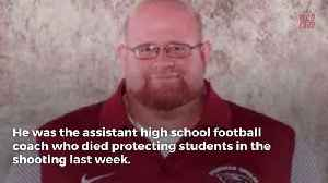 News video: Miami Dolphins Donating Money To Family Of Football Coach Who Shielded Students During Florida Shooting