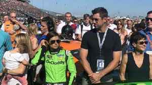 News video: Danica Patrick shares pre-race kiss with Aaron Rodgers