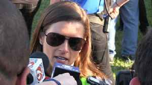 News video: Daytona 500: Danica Patrick thanks fans for their support after crash