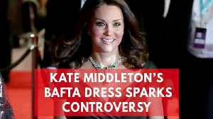 News video: Kate Middleton Wears Green To BAFTAS Amid All-Black Dress Code