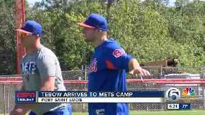 News video: Tim Tebow reports to Mets camp