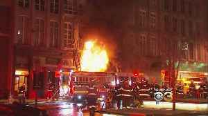 News video: Crews Place 4-Alarm Old City Fire Under Control, Scene Remains Active