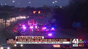 News video: Two girls, ages 1 and 7, killed in wreck on I-435