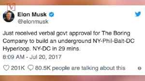 News video: Elon Musk Gets the Green Light to Start Digging Futuristic Tunnel in DC