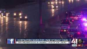 News video: Two girls killed, 4 other people hurt in wreck on I-435