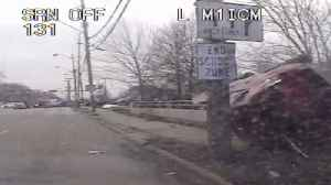 News video: Dash Cam Video Shows Stolen Car Crashing After Wild Chase in Ohio