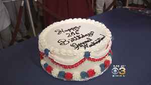 News video: Students Make Birthday Cake In Honor Of George Washington By Using First Lady Martha's Recipe