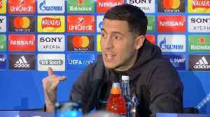 News video: Hazard says he's happy at Chelsea despite Real Madrid links