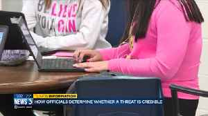News video: Officials share how to assess if school threats are credible