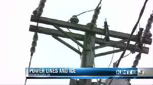 News video: Icy roads could lead to power outages