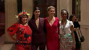 News video: Designers and models arrive for London Fashion Week